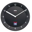66012 BNC 006 Funkwanduhr LCD-Sekunden-Anzeige leises Laufwerk