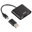 00054140 USB-2.0-OTG-Hub 1:2 für Smartphone/Tablet/Notebook/PC