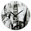 "00136218 Wanduhr ""New York"" ger""uscharm Glas"