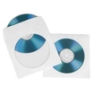 CD/DVD Paper Protection Sleeves, white, pack of 25