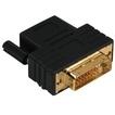 00034035 DVI-HDMI™-Adapter DVI-Stecker  HDMI™-Kupplung vergoldet geschirmt