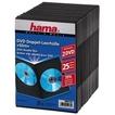 00051185 DVD-Doppel-Leerhülle Slim 25er-Pack