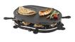 45000 Raclette-Grill 1200W für 8 Personen Antihaft-beschichtete Platte