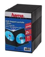 00051185 DVD-Doppel-Leerhülle Slim 25er-Pack für 18,46 Euro