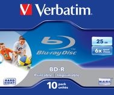 Verbatim BD-R SL 25GB 6x Printable 10 Pack Jewel Case für 22,96 Euro