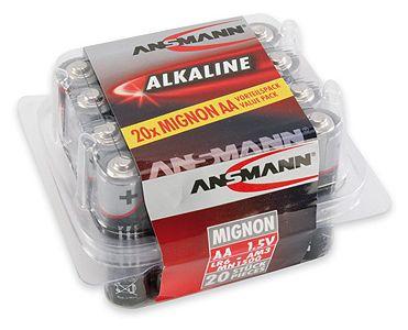 Alkaline-Batterie Mignon AA LR6 1,5V 20er Box