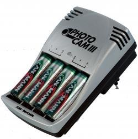 Ladegerät PhotoCam III + 4 AA Akku Typ 2850 (min. 2650mAh)