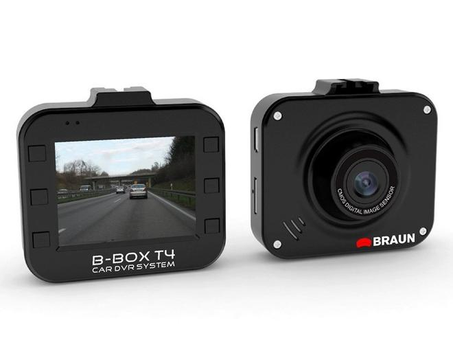 B-Box T4 Car DVR Dashcam 12MP Full-HD G-Sensor Schwarz