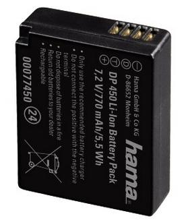 "00077450 Li-Ion-Akku ""DP 450"" für Panasonic DMW-BLG10"