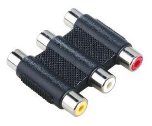00122249 Video-Adapter 3 Cinch-Kupplungen - 3 Cinch-Kupplungen