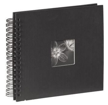 """00090145 Spiral-Album """"Fine Art"""" 28x24cm 50 schwarze Seiten"""
