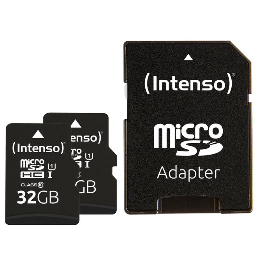 Doppelpack microSDHC 32GB UHS-I Premium inkl. SD-Adapter - High Capacity SD (MicroSDHC)