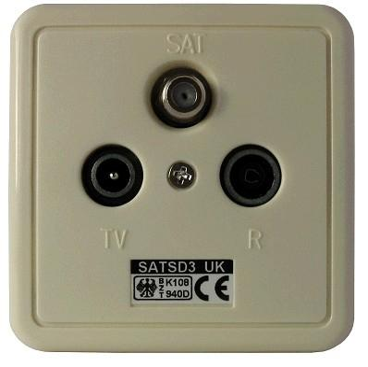 SAT SD 3uk / Class A 3-Loch-Stichdose bis 2400 MHz