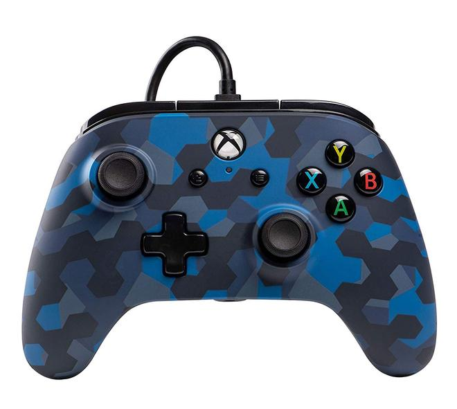 Enhanced Wired Controller Stealth Blue Camo Analog / Digital Gamepad Xbox One kabelgebunden