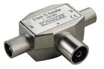 ASV42 531 2-fach Aufsteckverteiler (TV) für Kabel-/Antennenanlagen