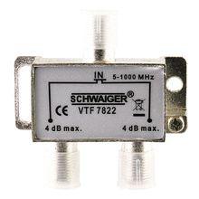 VTF7822 531 2-fach Verteiler (4 dB) für Kabel/Antennenanlagen