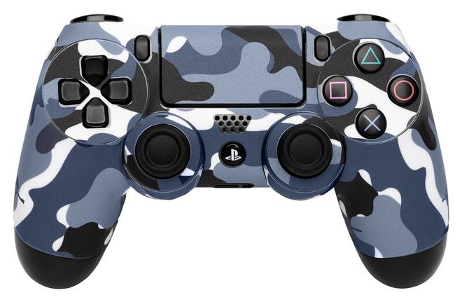 97320 Controller-Skin camouflage-grau Gaming controller skin PlayStation 4
