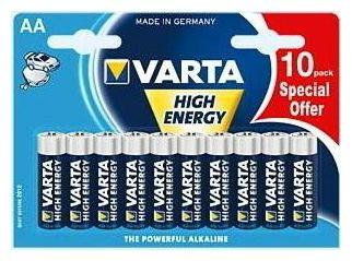 High Energy AA Batterien 10er Blister Mignon