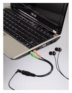 00054572 4 pol. Adapter 3,5mm Klinken-Kupplung - 2x3,5mm Klinken-Stecker