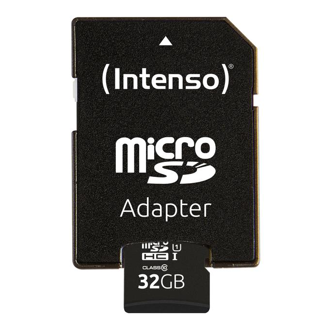 32GB microSDHC-Speicherkarte UHS-I inkl. SD-Adapter Class 10