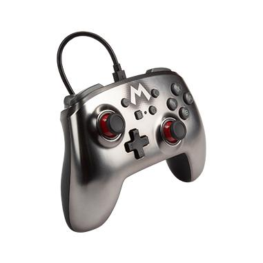 Enhanced Wired Controller Mario Silver Analog / Digital Gamepad Nintendo Switch kabelgebunden