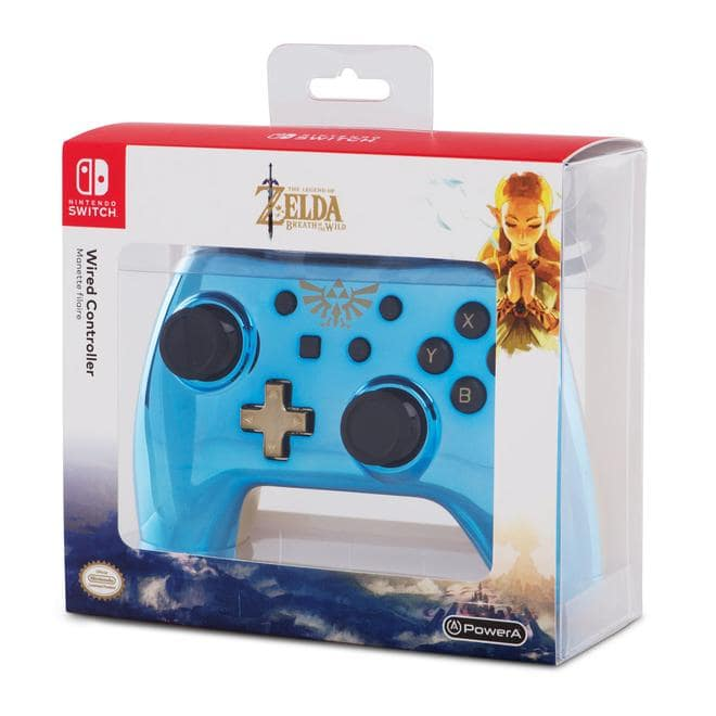 Nintendo Switch Wired Legend of Zelda Controller Blau, Gold