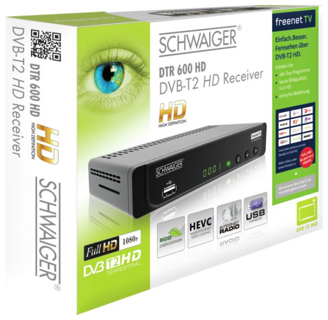 DTR600HD DVB-T2 HD Receiver Full HD HEVC Irdeto Verschlüsselungssystem