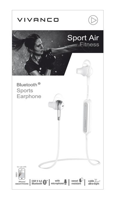 Sport Air Fitness In-Ear Bluetooth Kopfhörer Kabellos 5,5 h Laufzeit