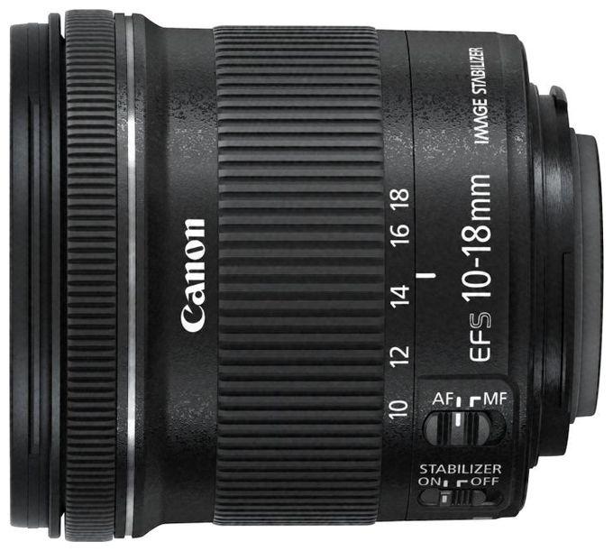 EF-S 10-18mm f/4.5-5.6 IS STM Objektiv + EW-73C + Microfasertuch