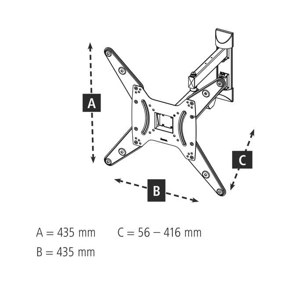 118103 Fullmotion 180° Wand Halterung bis 165,1 cm (65 Zoll) 25 kg