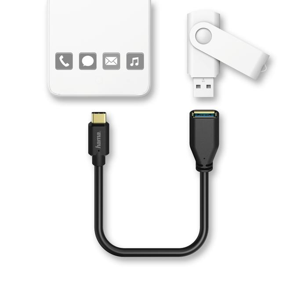 00123590 USB-C-Adapterkabel, USB-C-Stecker – USB-3.1-A-Kupplung 0,15m