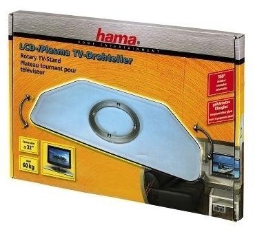 084026 LCD-/Plasma-TV-Drehteller bis 32 Zoll 360° drehbar Glas