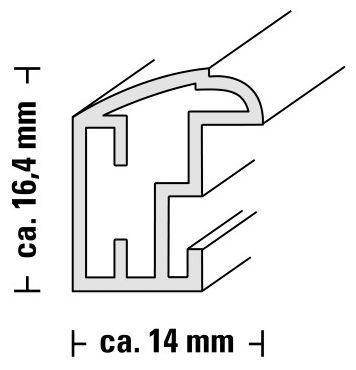 "00067695 Kunststoffrahmen ""Saragossa"" 13x18cm"