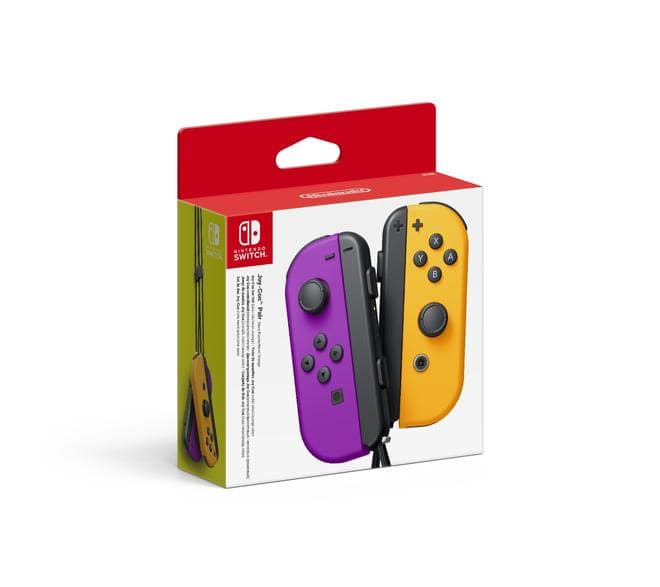 Switch Joy Con 2er Set, Lila/Orange Controller