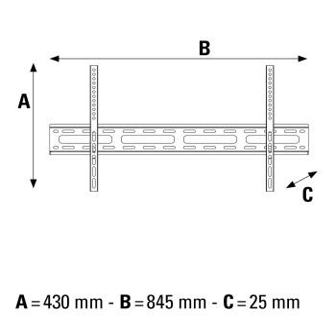108718 Fix Wand Halterung bis 165,1 cm (65 Zoll) 40 kg