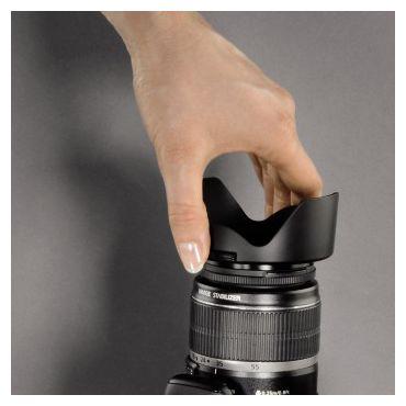 """00093655 Gegenlichtblende """"Snap"""" Objektivdeckel, Weitwinkel-Objektive 55 mm"""