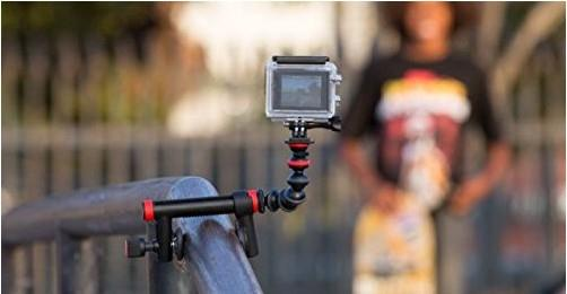 Action Clamp + Gorillapod Arm flexible Halterung für Action Cams
