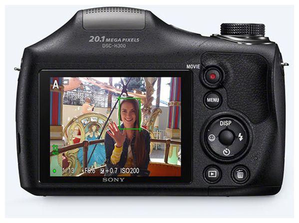 Cyber-shot DSC-H300  Kompaktkamera 35x Opt. Zoom (Schwarz)