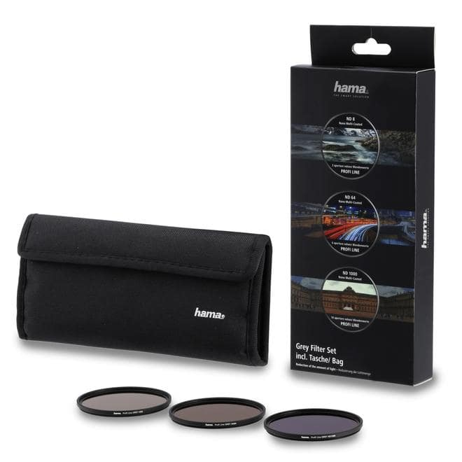 76899 Graufilter-Set ND8, ND64, ND1000, 58mm Schwarz