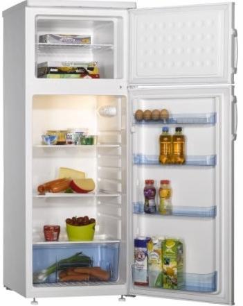 Amica KGC 15425 W Doppeltür-Kühlschrank A++ 160l/45l 171kWh/Jahr für 275,96 Euro