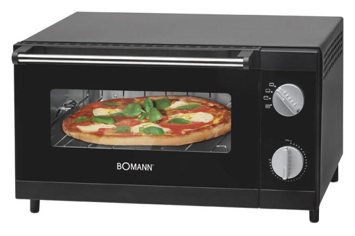 Bomann MPO2246CB Pizza-Ofen 1000W 4-Stufenschaltung Krümelschublade für 36,96 Euro