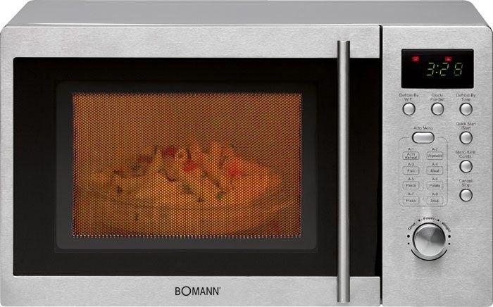 Bomann MWG2211U CB Mikrowelle 800 W Größe: klein 5 Stufen Grill für 96,46 Euro