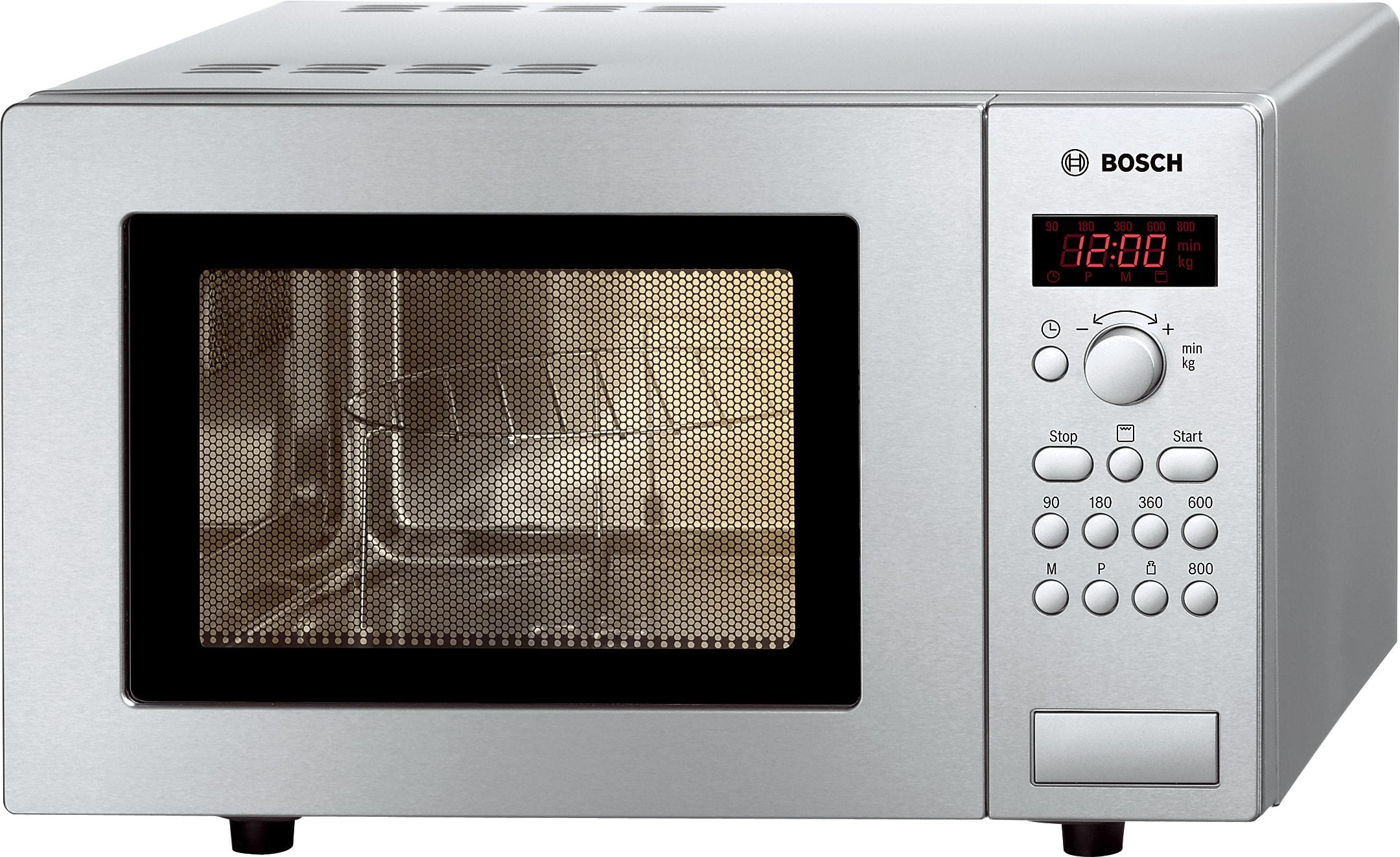 Bosch HMT75G451 800W Mikrowelle/1000W Grill 17l 5 Leistungsstufen 24,5cm für 149,96 Euro
