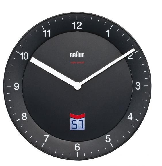 Braun 66012 BNC 006 Funkwanduhr LCD-Sekunden-Anzeige leises Laufwerk für 72,46 Euro