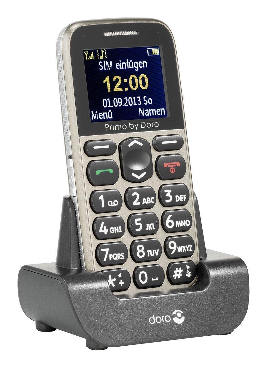 Doro Primo 215 Handy 4,32cm/1,7'' Farbdisplay inkl. Tischladestation für 35,96 Euro