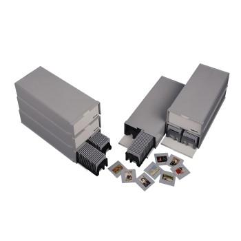 """Hama 00001086 Diastapelbox """"100"""" mit 2 Magazinen für je 50 Dias 2-er-Pack für 15,46 Euro"""