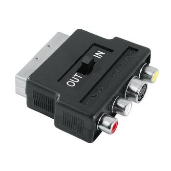 Hama 00122238 Video-Adapter S-VHS-Kupplung/3 Cinch-Kupplungen - Scart-Stecker für 16,96 Euro