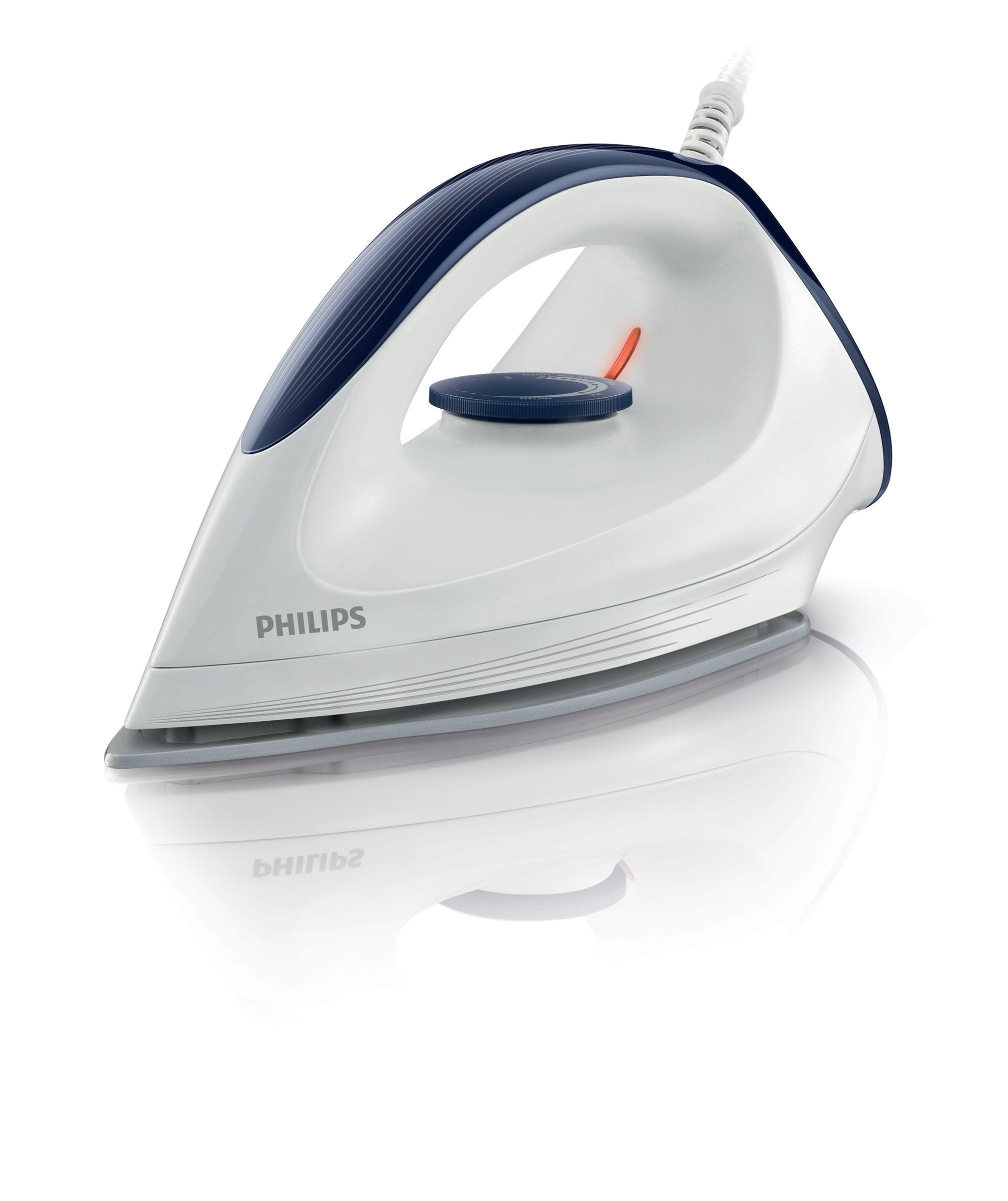 Philips GC160/02 Trockenbügeleisen 1200W 1,9m Silverstone Bügelsohle für 24,96 Euro