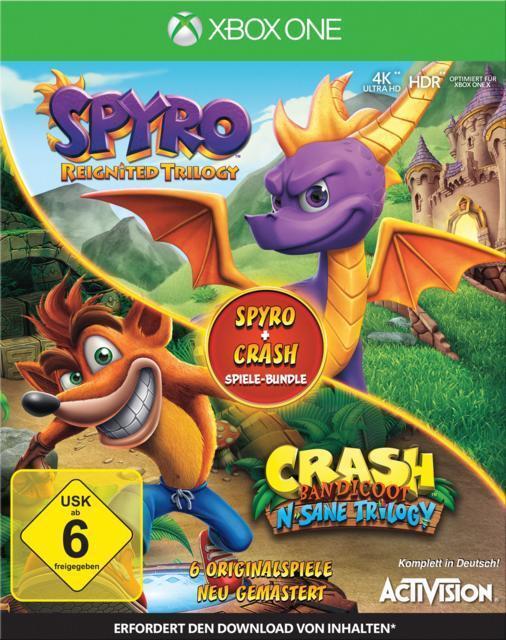 Spyro + Crash Remastered Spiele-Bundle (Xbox One) für 51,46 Euro