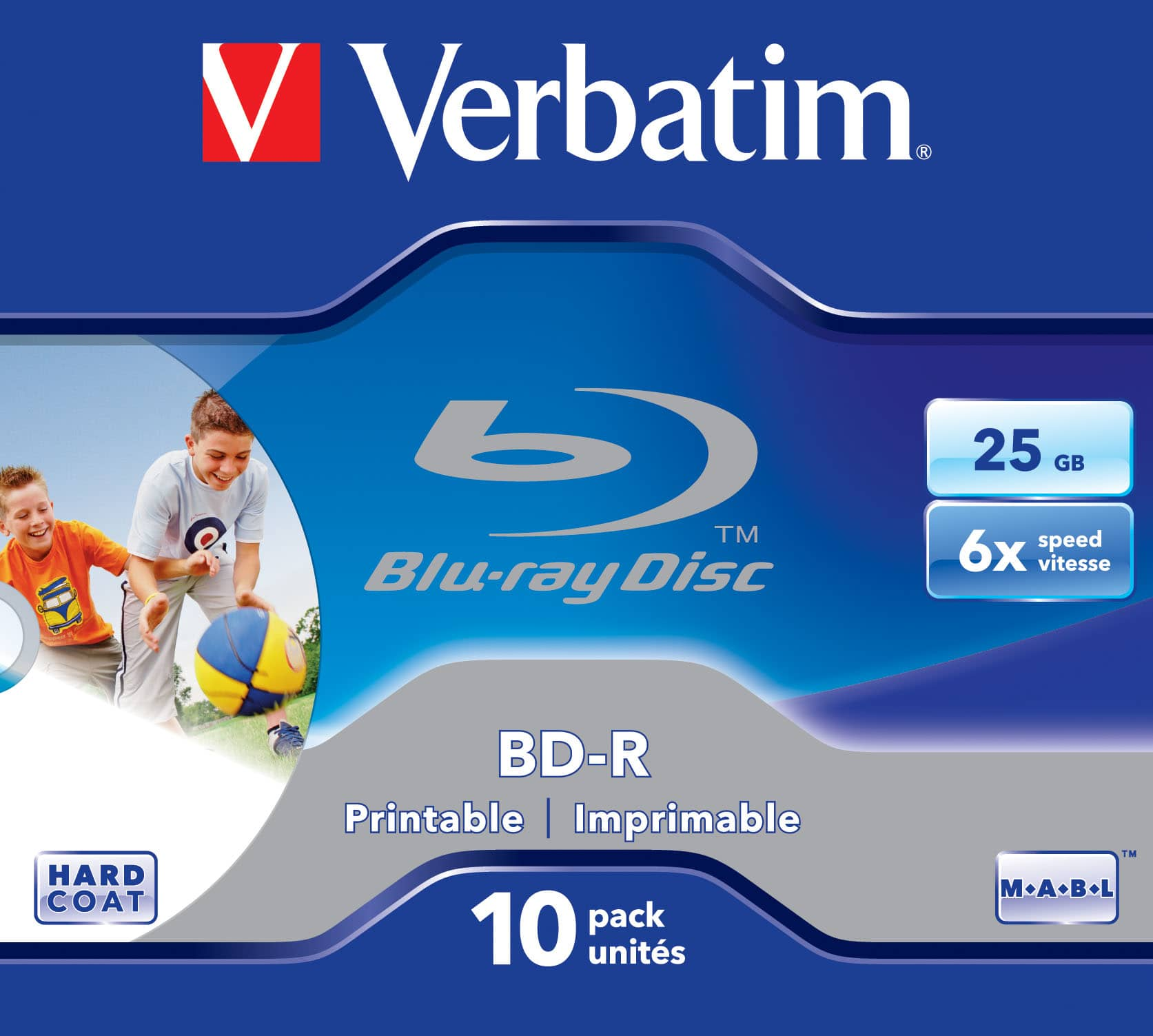 Verbatim BD-R SL 25GB 6x Printable 10 Pack Jewel Case für 20,96 Euro
